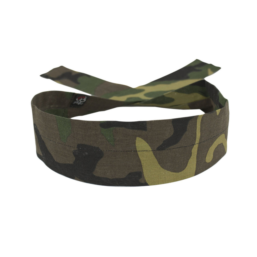 D118 Cooldanna Woodland Camo Head/Neck/Sleeve Gear Virginia City Motorcycle Company Apparel