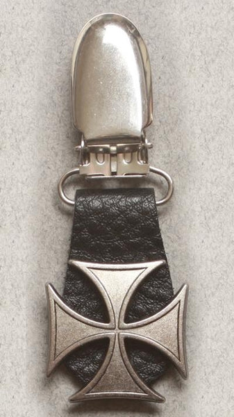 J122-8 Boot Clips Iron Cross Boot Clips Virginia City Motorcycle Company Apparel
