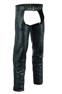 DS402    Unisex Chaps with 2 Jean Style Pockets Chaps Virginia City Motorcycle Company Apparel