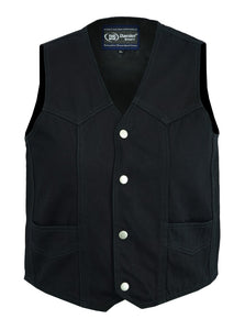 Daniel Smart -  Kid's Denim Plain Side Vest - DM9725 Kid's Leather Virginia City Motorcycle Company Apparel