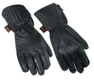 DS32   Superior Features Insulated Cruiser Glove Men's Gauntlet Gloves Virginia City Motorcycle Company Apparel