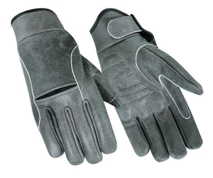 DS42V Premium Gray Cruiser Glove Men's Lightweight Gloves Virginia City Motorcycle Company Apparel