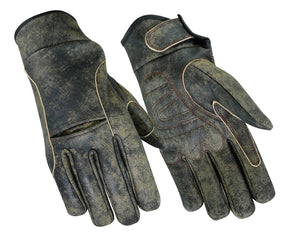 DS42B Premium Antique Brown Cruiser Glove Men's Lightweight Gloves Virginia City Motorcycle Company Apparel