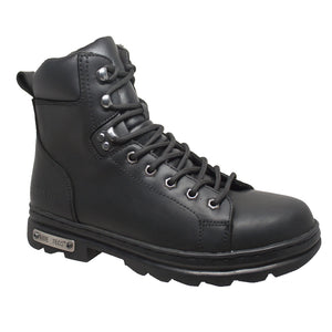 "Men's 6"" Zipper/Lace Front Biker Boot - 9807M Men's Boots Virginia City Motorcycle Company Apparel"