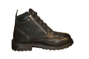 DS9730 Men's 6'' Side Zipper Plain Toe Boot Men's Boots Virginia City Motorcycle Company Apparel