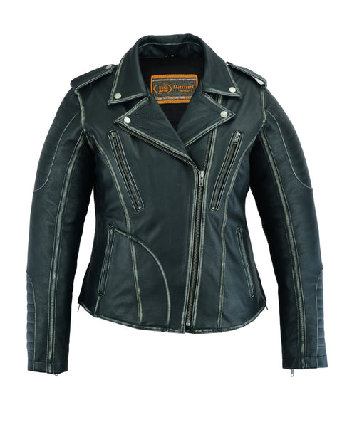 Women's Motorcycle Jacket w/ Hoodie Liner - DS877 Women's Jackets Virginia City Motorcycle Company Apparel