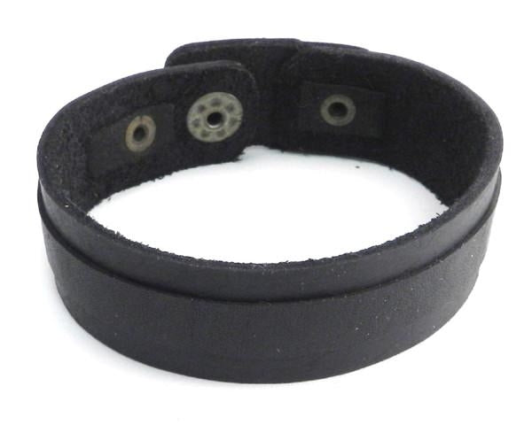 PV3206BLK Black Layered Leather Strap Bracelet Bracelets Virginia City Motorcycle Company Apparel