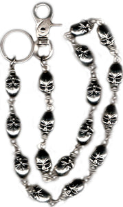 "WC7016 31"" Wallet Chain Large Skulls Wallet Chains/Key Leash Virginia City Motorcycle Company Apparel"