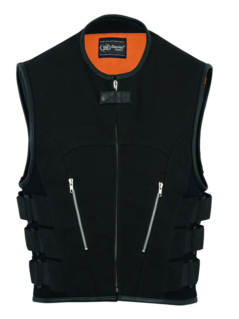 Daniel Smart - Men's Updated Canvas SWAT Team Style Vest - DS006 Men's Textile Vests Virginia City Motorcycle Company Apparel