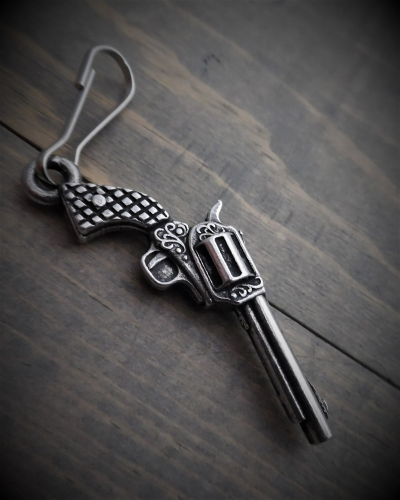 BZP-24 Revolver Zipper Pull Zipper Pulls Virginia City Motorcycle Company Apparel
