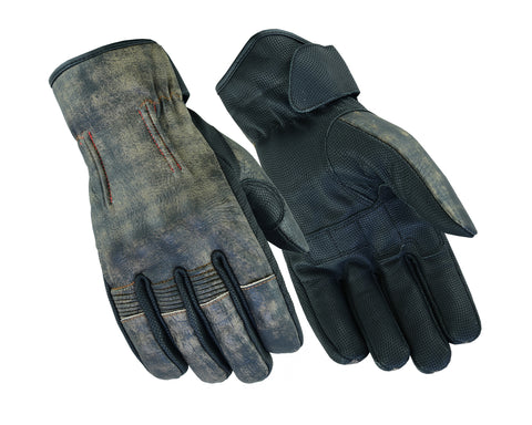 DS95 Men's Feature-Packed Washed-Out Brown Rakish Glove Men's Lightweight Gloves Virginia City Motorcycle Company Apparel