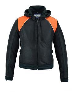 DS827 Women's Mesh 3-in-1 Riding Jacket (Black/Orange) Women's Jackets Virginia City Motorcycle Company Apparel