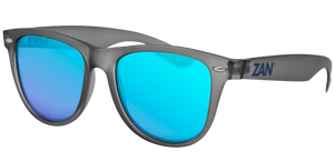 EZMT03 Minty Matte Gray Frame, Smoked Blue Mirror Lens Sunglasses Virginia City Motorcycle Company Apparel