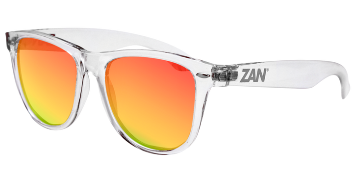 EZMT04 Minty Clear Frame, Smoked Crimson Mirrored lens Sunglasses Virginia City Motorcycle Company Apparel