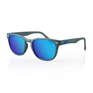 EZNV04 NVS Sunglass, Matte Gunmetal Frame, Smoked Cyan Mirror Lens Sunglasses Virginia City Motorcycle Company Apparel