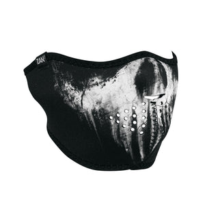 WNFM409H Neoprene Half Face Mask, Skull Ghost Half Facemasks Virginia City Motorcycle Company Apparel