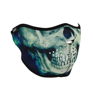 ZAN Neoprene Half Face Mask, Paint Skull - WNFM414H Half Facemasks Virginia City Motorcycle Company Apparel