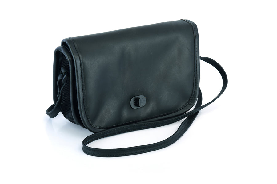 Women's Black Construction Leather Purse/Shoulder Bag - DS8500 Bag Virginia City Motorcycle Company Apparel