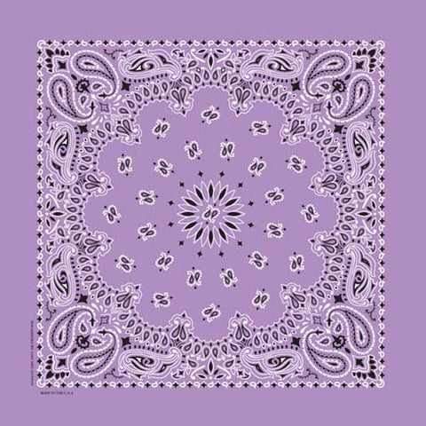NT4405 Bandana Paisley Lavender Bandanas Virginia City Motorcycle Company Apparel