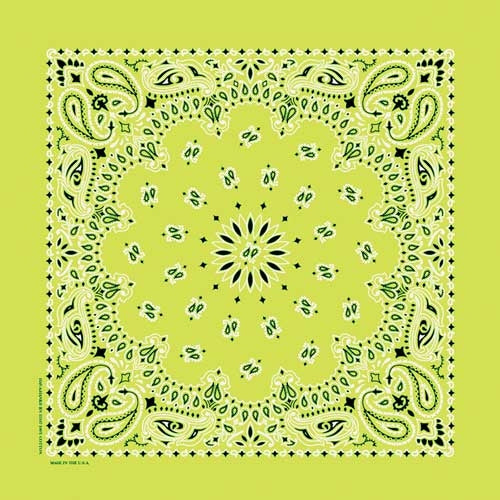 NT4410 Bandana Paisley Lime Bandanas Virginia City Motorcycle Company Apparel