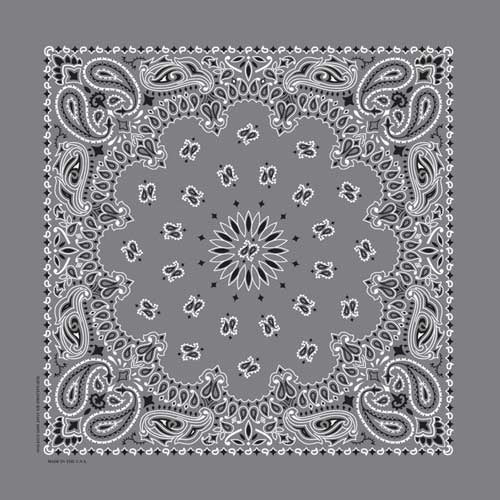 NT4411 Bandana Paisley Charcoal Bandanas Virginia City Motorcycle Company Apparel