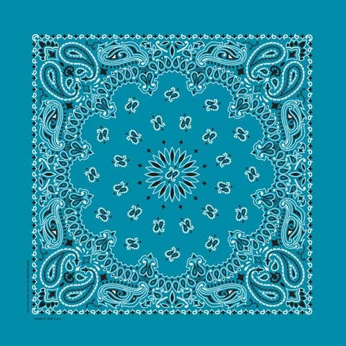 NT4412 Bandana Paisley Turquoise Bandanas Virginia City Motorcycle Company Apparel