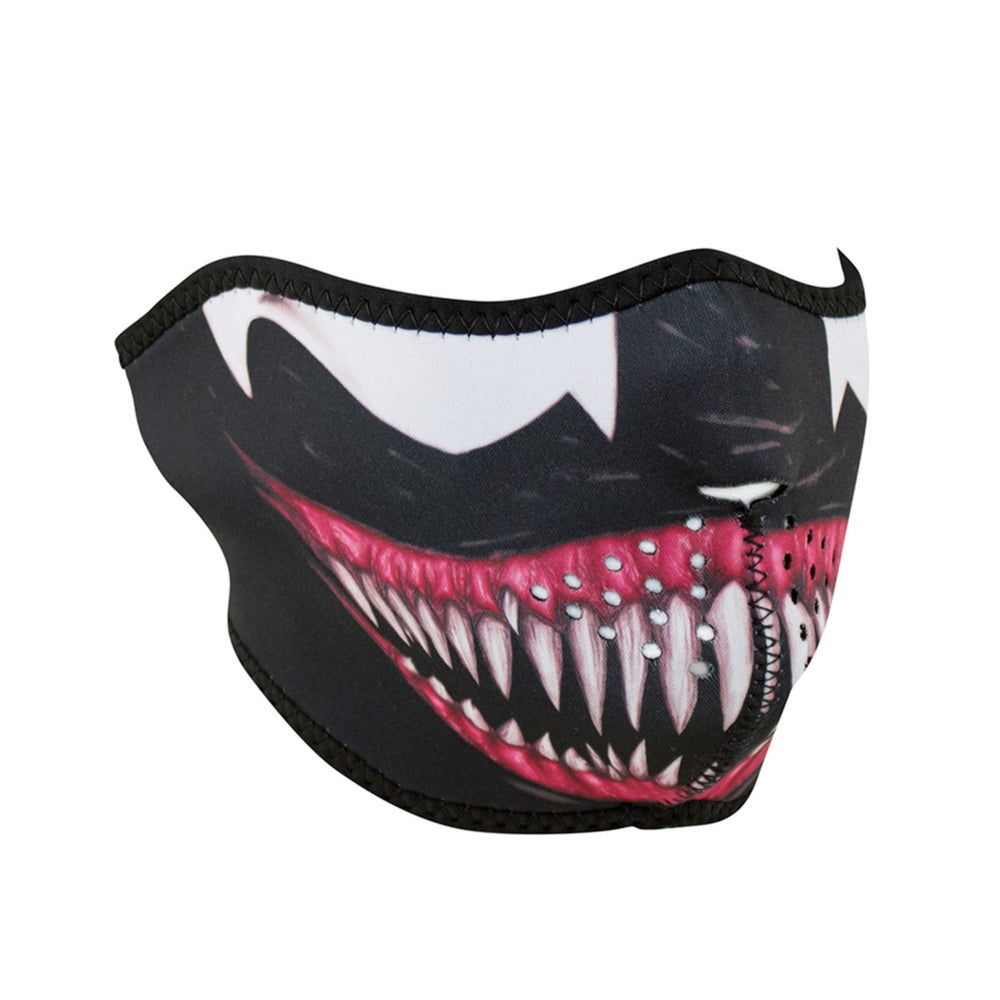 ZAN® Half Mask- Neoprene- Toxic - WNFM093H Half Facemasks Virginia City Motorcycle Company Apparel