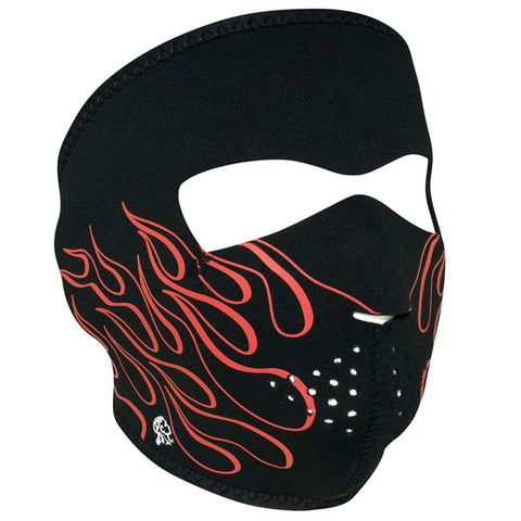 WNFM045 ZAN® Full Mask- Neoprene- Orange Flame Full Facemasks Virginia City Motorcycle Company Apparel