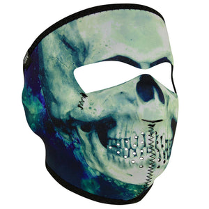 WNFM414 ZAN® Full Mask- Neoprene- Paint Skull Full Facemasks Virginia City Motorcycle Company Apparel