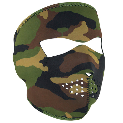 WNFM118 ZAN® Full Mask- Neoprene- Woodland Camo Full Facemasks Virginia City Motorcycle Company Apparel