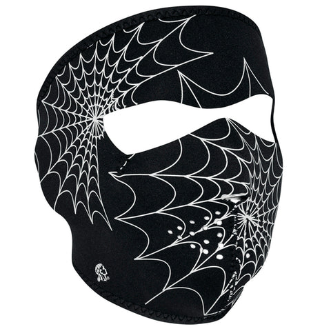 WNFM057G ZAN® Full Mask- Neoprene- Spider Web, Glow in the Dark Full Facemasks Virginia City Motorcycle Company Apparel