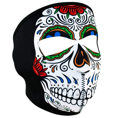 WNFM413 ZAN® Full Mask- Neoprene- Muerte Skull Full Facemasks Virginia City Motorcycle Company Apparel