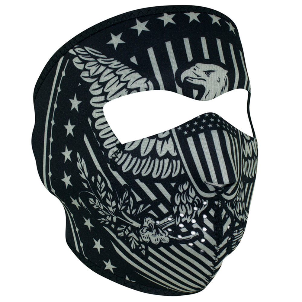 ZAN® Full Mask- Neoprene- Vintage Eagle - WNFM412 Full Facemasks Virginia City Motorcycle Company Apparel