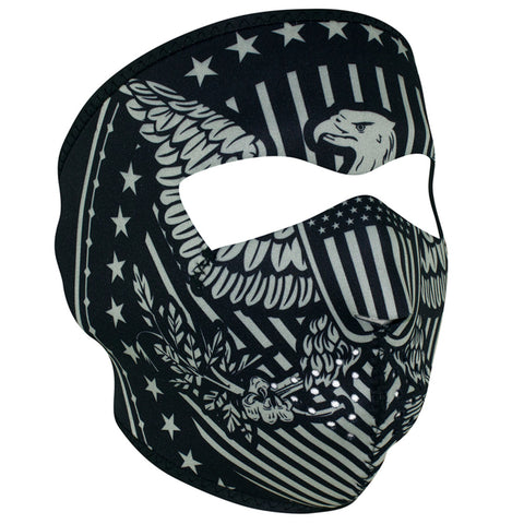 WNFM412 ZAN® Full Mask- Neoprene- Vintage Eagle Full Facemasks Virginia City Motorcycle Company Apparel