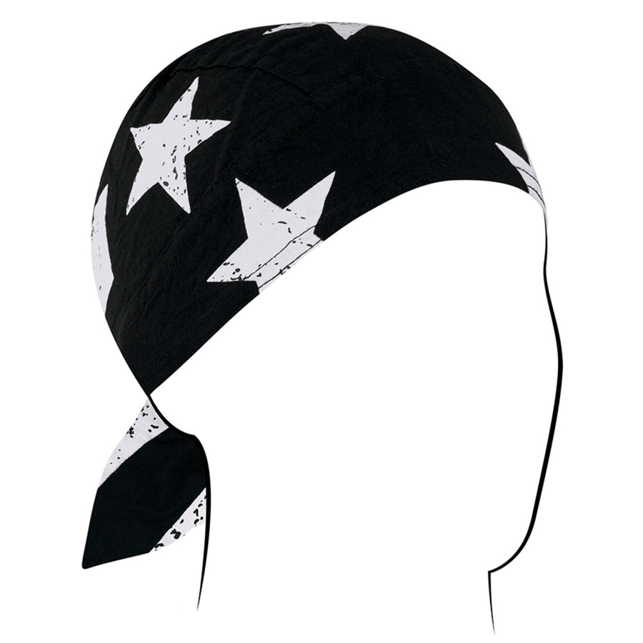 Z903 Flydanna®, Cotton, Black & White Vintage American Flag Headwraps Virginia City Motorcycle Company Apparel
