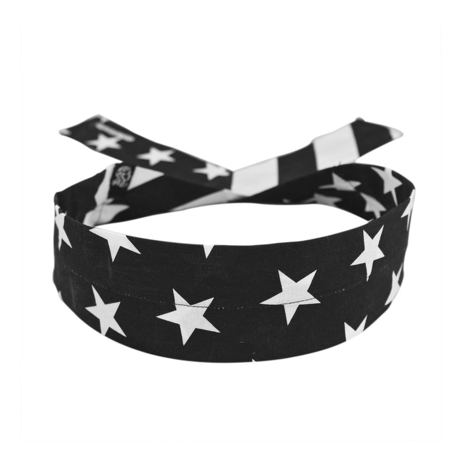 DC219 Cooldanna® Black & White Flag Head/Neck/Sleeve Gear Virginia City Motorcycle Company Apparel