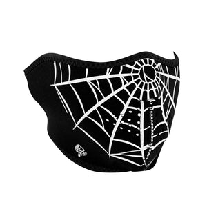 ZAN® Half Mask- Neoprene- Spider Web - WNFM055H Half Facemasks Virginia City Motorcycle Company Apparel