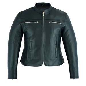 DS839 Women's Contemporary Full Cut Leather Jacket Women's Jackets Virginia City Motorcycle Company Apparel