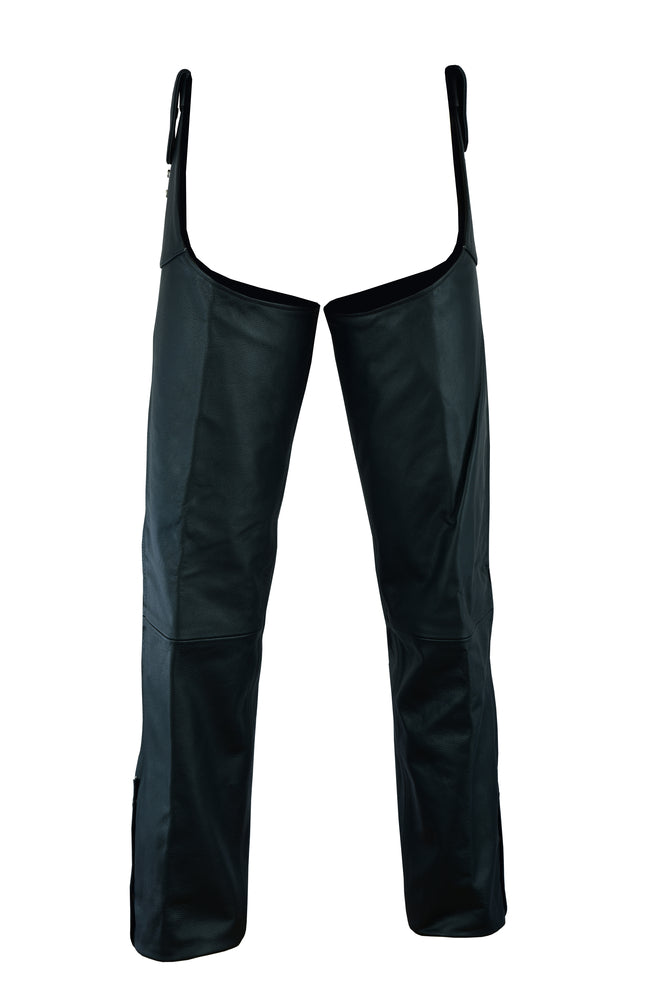 Unisex Adjustable Side Snap Beltless Chap - DS424 Chaps Virginia City Motorcycle Company Apparel