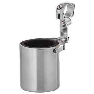 Clamp On Stainless Steel Motorcycle Cup Holder - GFCUPHSS Motorcycle Mounts Virginia City Motorcycle Company Apparel
