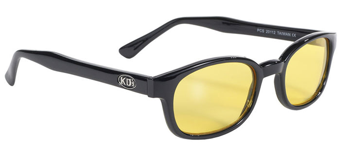 KD's Black Frame/Yellow Lens Sunglasses - 20112 Sunglasses Virginia City Motorcycle Company Apparel