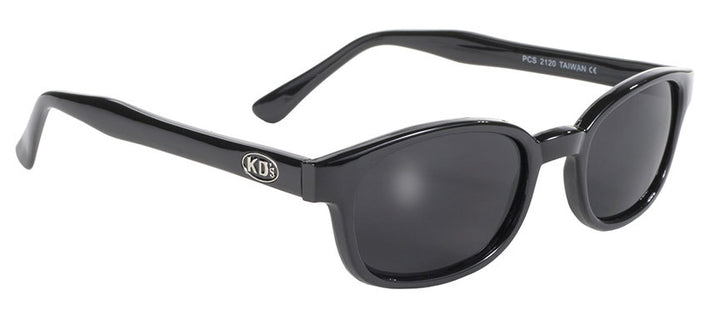 KD's Black Frame/Smoke Lens Sunglasses - 2120 Sunglasses Virginia City Motorcycle Company Apparel