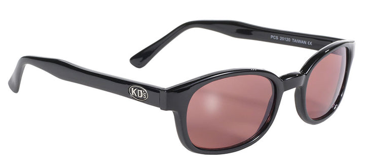 KD's Black Frame/Rose Lens Sunglasses - 20120 Sunglasses Virginia City Motorcycle Company Apparel