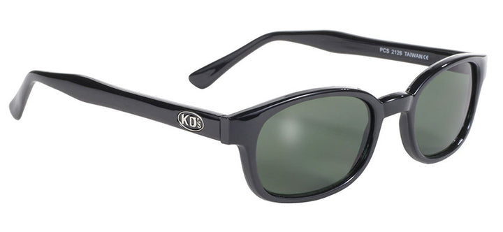 KD's Black Frame/Dark Green Lens Sunglasses - 2126 Sunglasses Virginia City Motorcycle Company Apparel