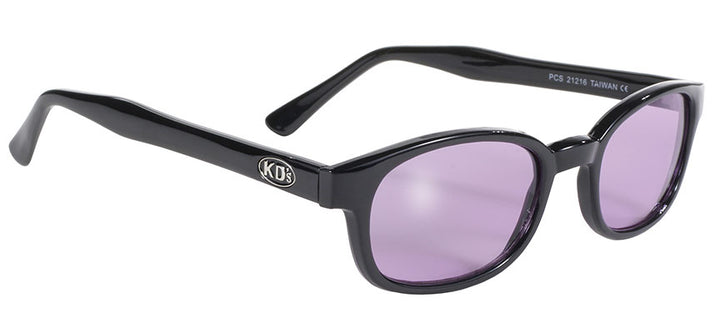 KD's Black Frame/Purple Lens Sunglasses - 21216 Sunglasses Virginia City Motorcycle Company Apparel