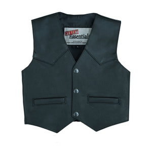 Daniel Smart - Toddler Traditional Plain Side Leather Vest - DS1744 Kid's Leather Virginia City Motorcycle Company Apparel