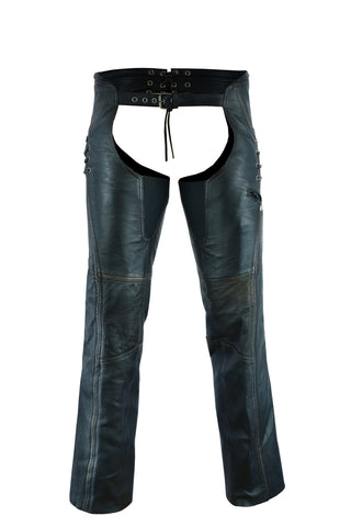 DS490 Women's Stylish Lightweight Hip Set Chaps in Lightweight Drum D Chaps Virginia City Motorcycle Company Apparel