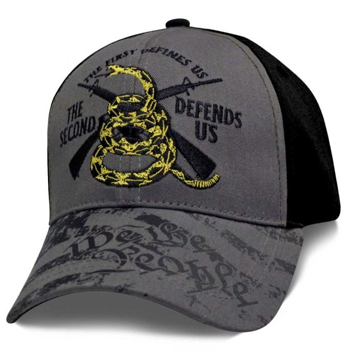 Don't Tread on Me 2nd Amendment Ball Cap Hat - SWTPDT Hats Virginia City Motorcycle Company Apparel