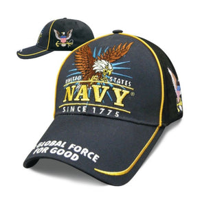 Victory - Official U.S. Navy Hat - SVICNV Hats Virginia City Motorcycle Company Apparel