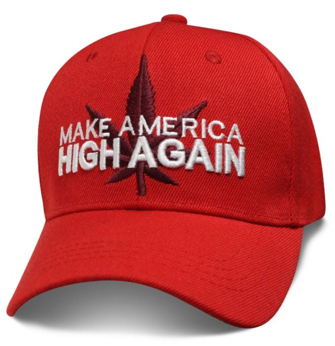 MAHA Make American High Again Red Hat - SMKEHA Hats Virginia City Motorcycle Company Apparel